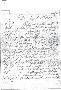 Elagh Laird - Letter 1 Page 1