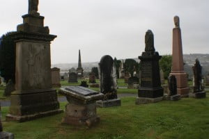 Wider view of EA50 Laird Family Plot