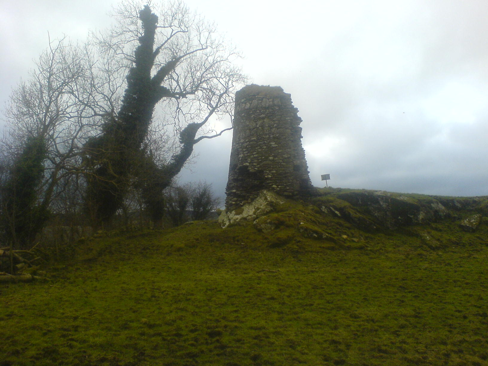 The remains of O'Doherty Castle